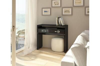 Bureau vivaldi zoom bureau console extensible noir mat avec noir