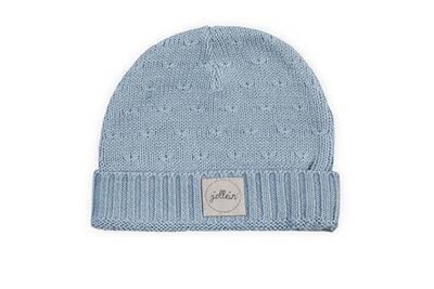 Casquette enfant JOLLEIN Bonnet pour bébé 9 à 18 mois jollein soft knit -  bleu 158ed892c77
