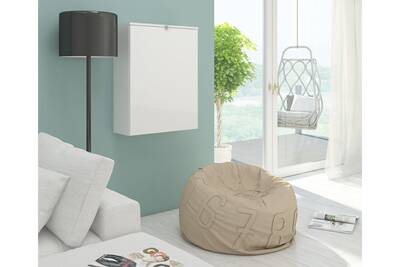 Bureau vivaldi hide bureau pliable blanc mat avec blanc brillant darty