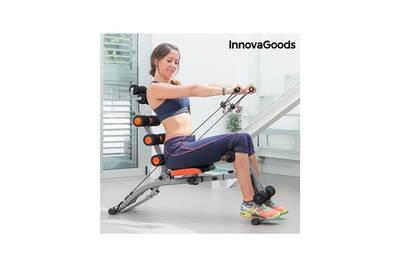 Banc de musculation innovagoods banc de musculation 6x int gral avec guide d 39 exercices - Banc de musculation guide ...