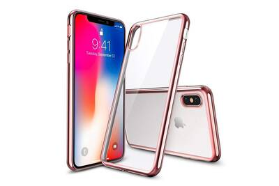 coque iphone xs transparente contour noir