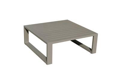 Table de jardin Idilik Table basse 80 x 80 en alu taupe eléra | Darty