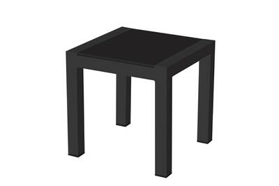 Table de jardin Idilik Table basse carrée alu anthracite plateau ...