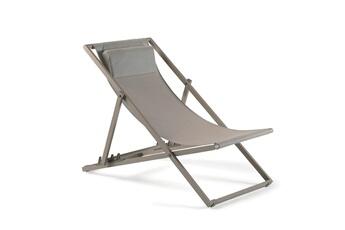 27879c5df648da transat transat en aluminium champagne et textilne taupe santiago gecko  jardin with transat jardin. free chaise longue ...