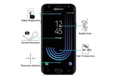Protection écran smartphone Cabling Cabling® samsung galaxy j3 (2017) - 3d  verre trempé 939b801ec9f8