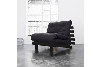 ensemble matelas et sommier terre de nuit pack matelas futon gris anthracite coton structure en. Black Bedroom Furniture Sets. Home Design Ideas