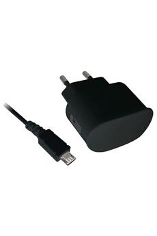 Chargeur secteur USB 1A - cable micro USB data et charge