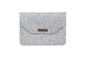 80ca783cff Housse et étui pour tablette Sacoche ordinateur portable gris sac manchon  feutre pour votre macbook pro