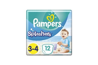 Couches Pampers Pampers splashers taille 3-4, 6-11 kg, 12 couches-culottes de bain