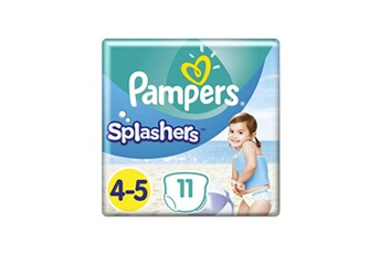 Couches Pampers Pampers splashers taille 4-5, 9-15 kg, 11 couches-culottes de bain