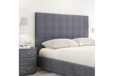 945a80c02daec Accessoires literie AUCUNE Sogno tete de lit capitonnée style contemporain  - tissu gris foncé - l 180 cm