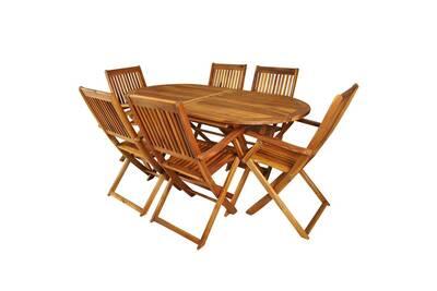 Ensemble table et chaise de jardin Malatec Salon de jardin en bois ...