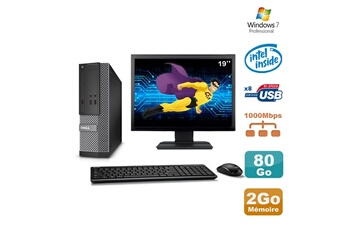PC de bureau Lot pc dell optiplex 3020 sff intel g3220 3ghz 2go 80go dvd w7 44337b264903