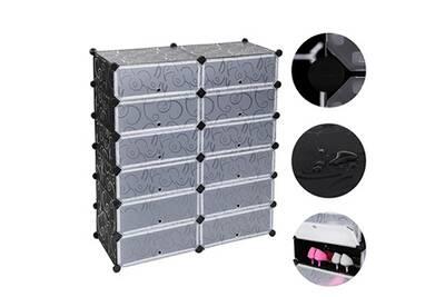 armoire bleosan armoire chaussures meuble chaussures etagre avec portes plastique 12 casiers facile