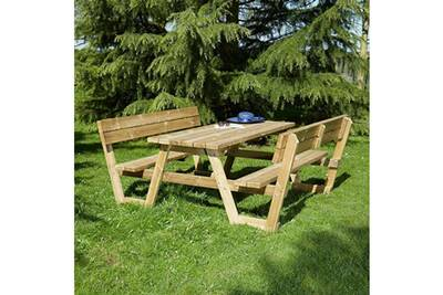 Table Camping Pique Nique Cemonjardin Table Pique Nique En Bois
