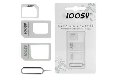 adaptateur carte sim darty Accessoires téléphone Hdeo Nano adaptateur de cartes sim noir | Darty
