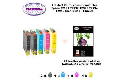 cartouche d 39 encre t3azur 5 pack compatible epson t2991. Black Bedroom Furniture Sets. Home Design Ideas