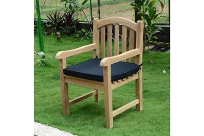 Coussin pour chaise de jardin Teck\'attitude Coussin noir pour ...