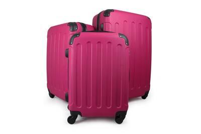nouveau style b385d 86098 Bagages pour voyage, set de valises, coins protégés, 51 61 71 cm, fuchsia,  abs, matériau: plastique abs
