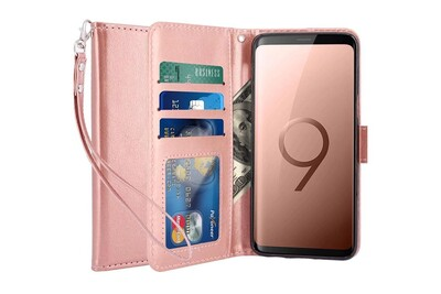 Housse samsung galaxy s9 plus coque etui de luxe portefeuille porte carte et billet (avec bequille) - advansia