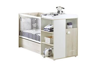 lit enfant sauthon baby price lit combin 120x60 evolutif en 90x190 htre cendr smile baby price - Lit Combine Enfant