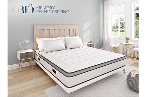 Matelas obed memory perfect spring matelas à mémoire de forme couleur blanc