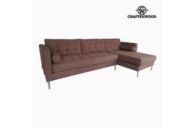 Canapé Longue 91 De Polyester Bois 81 Pin X Chaise CmBy Marron262 Craftenwood UMSzVqp