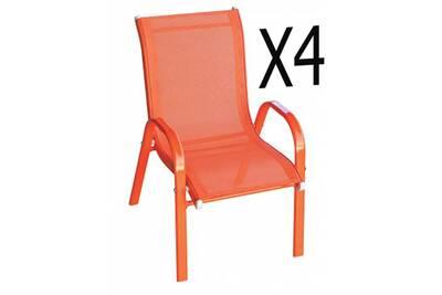 Chaise et fauteuil de jardin Pegane Lot de 4 fauteuils enfant en ...