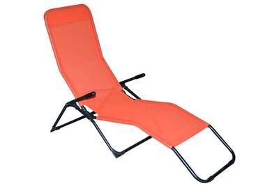 Chaise et fauteuil de jardin Pegane Chaise longue en texaline ...
