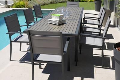 Ensemble table et chaise de jardin Pegane Ensemble de jardin ...