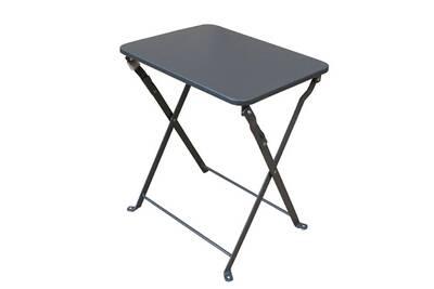 Table de jardin Pegane Table d\'appoint pliante coloris gris foncé ...