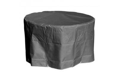 Green club housse de protection pour table ronde - ø160x65 cm - anthracite