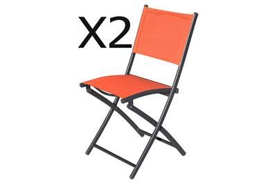 Chaise et fauteuil de jardin Pegane Lot de 2 chaises de jardin ...