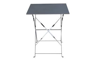 Table de jardin Pegane Table de jardin pliante carrée coloris gris ...