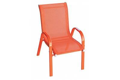 Chaise Et Fauteuil De Jardin Pegane Enfant En Texaline Coloris Orange
