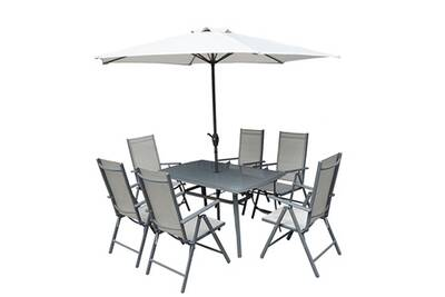 Ensemble table et chaise de jardin Pegane Ensemble de jardin de 8 ...