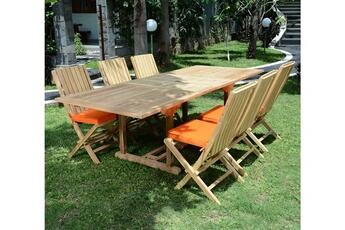Ensemble table et chaise de jardin Teck\'attitude | Darty