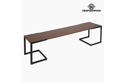 meuble cd dvd craftenwood table de tlvision dm noyer 160 x 40 x 50
