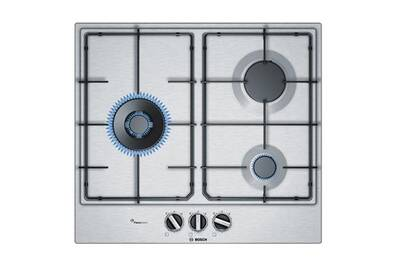plaque gaz bosch table de cuisson gaz 60cm 3 feux inox bosch pcc6a5b80 darty. Black Bedroom Furniture Sets. Home Design Ideas