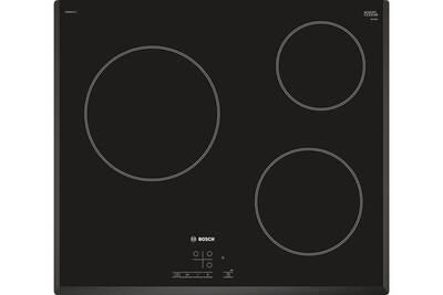 grossiste bfefc 5b868 Table de cuisson vitrocéramique 60cm 3 feux 5.7kw noir - bosch - pkm651b17e