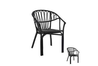 Chaise Et Fauteuil De Jardin Tousmesmeubles Duo Chaises Rotin Noir