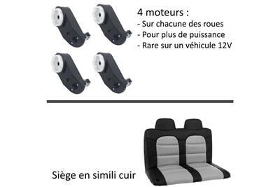 12 Flamme Enfant Moteurs Pack Noir 4 Voiture 2 Garantie Volts Jeep Électrique Luxe 4x4 Véhicule Places 2WHD9EI