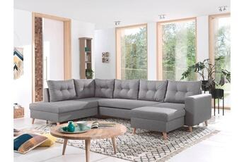 Canapé d angle Nordic - canapé scandinave d angle gauche panoramique  convertible en tissu 7b17c40280c6