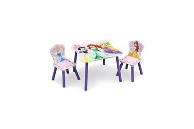 Ensemble Table Chaise Alo Disney Princesses Enfant Et 2 Chaises En Bois