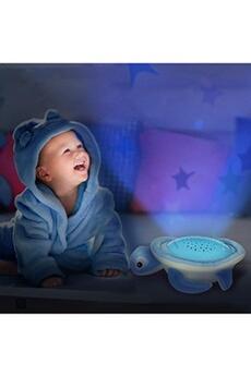 Peluches OREGON SCIENTIFIC Veilleuse musicale et projecteur d'étoiles colorée tortue (bleu)