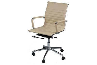 Celia Simili Bureau Cuir De Beige Chaise nP0wkO8