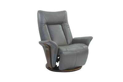 revendeur 933bd eb3c1 Fauteuil de relaxation électrique cuir gris clair - espion - l 81 x l 80 x  h 114 - neuf