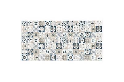 Tapis De Sol 70x140cm Mosaique Bleue Beige Contento 868219 04