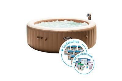 spa gonflable intex spa gonflable intex purespa bulles 6 personnes 12 cartouches kit de. Black Bedroom Furniture Sets. Home Design Ideas