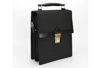 77a18f8099 Sacoche Katana Kinsell ® sac ã bandouliã¨re sacoche katana en nylon garnie  de cuir , porte papier documents voyage homme 28cm